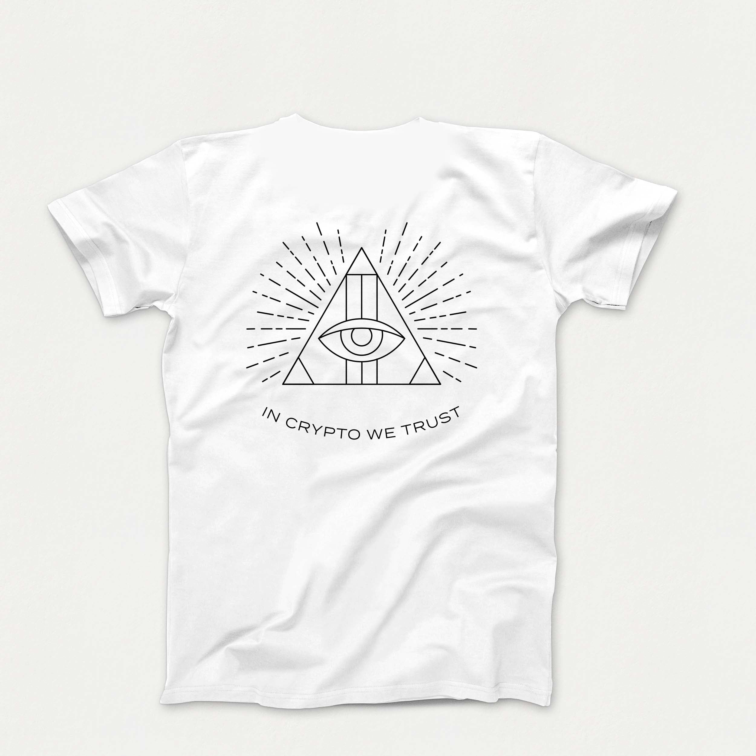 'In Crypto We Trust' T-Shirt (White)