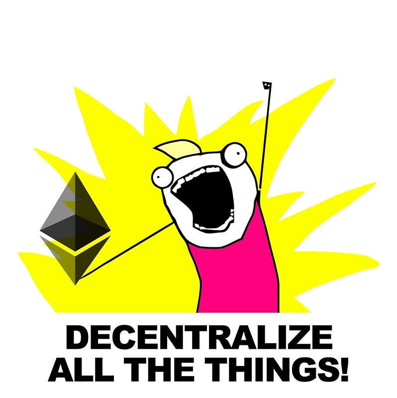 Decentralize All The Things - Ethereum Fan Greeting Card