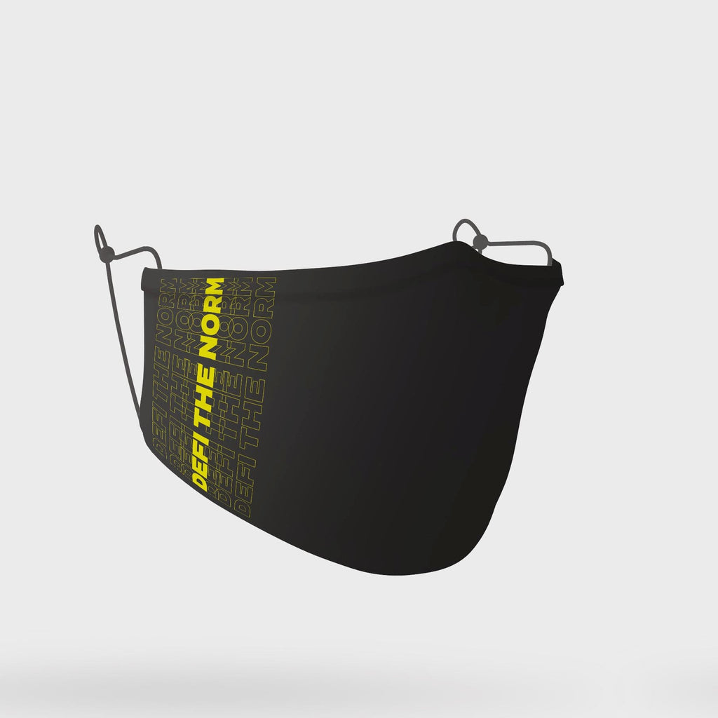 'DEFI the Norm' Mask (Black Yellow)