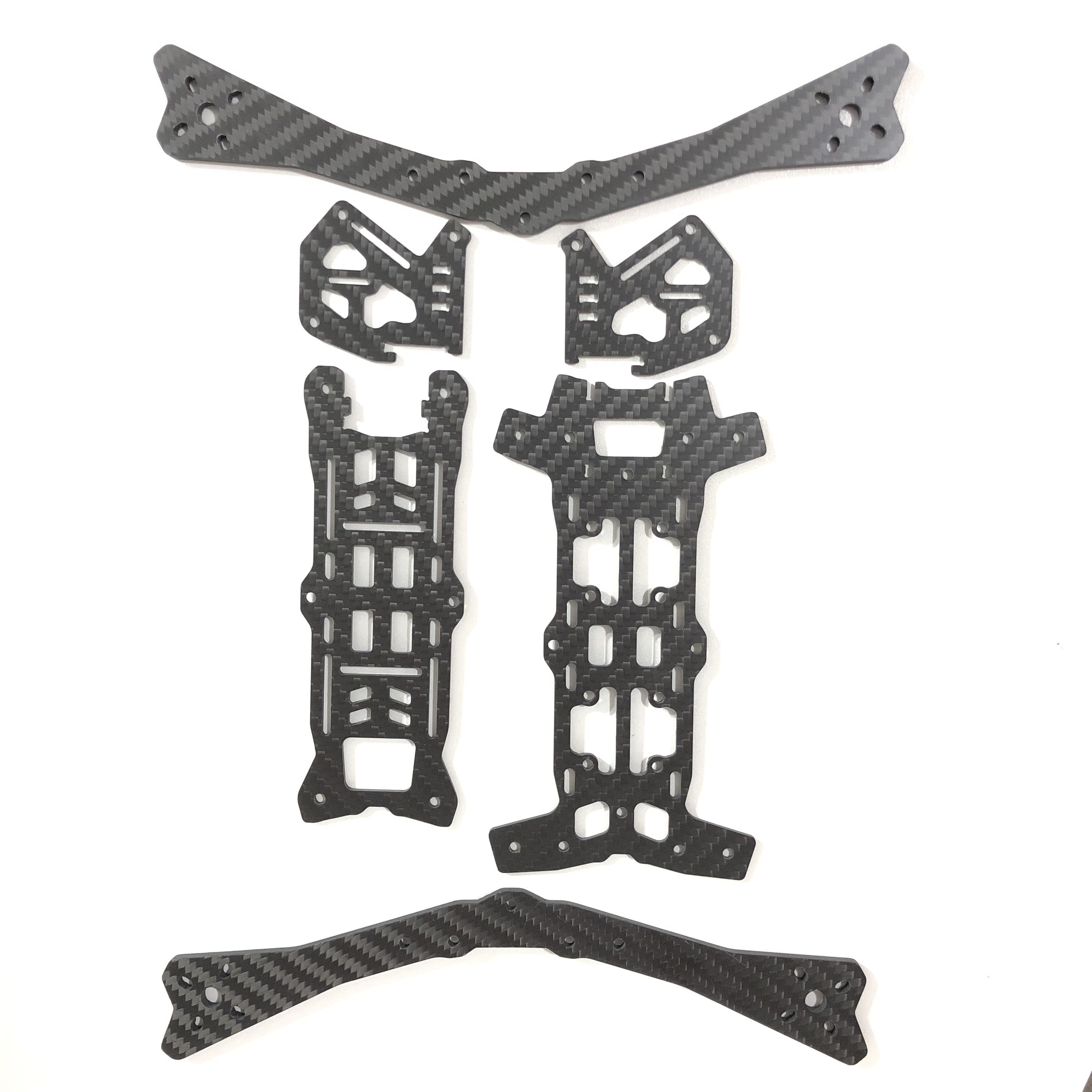 AirBlade Intrepid V2 3K Carbon Fiber Frame Kit - 5 inch and 7 inch AirBlade UAV