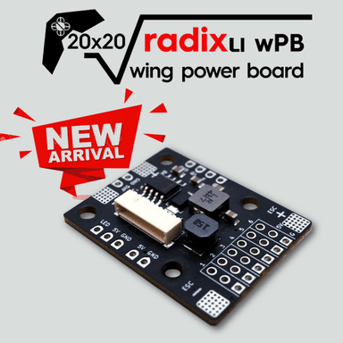 BrainFPV RADIX Li Wing Power Distribution Board (PDB) BrainFPV