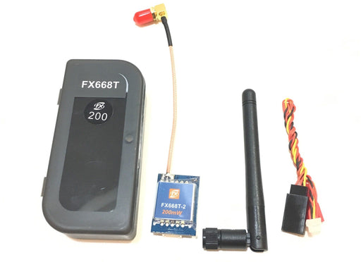 FXT FX668T 5.8Ghz 200mW Video Transmitter with right-angle SMA Pigtail (Pit mode) FXT