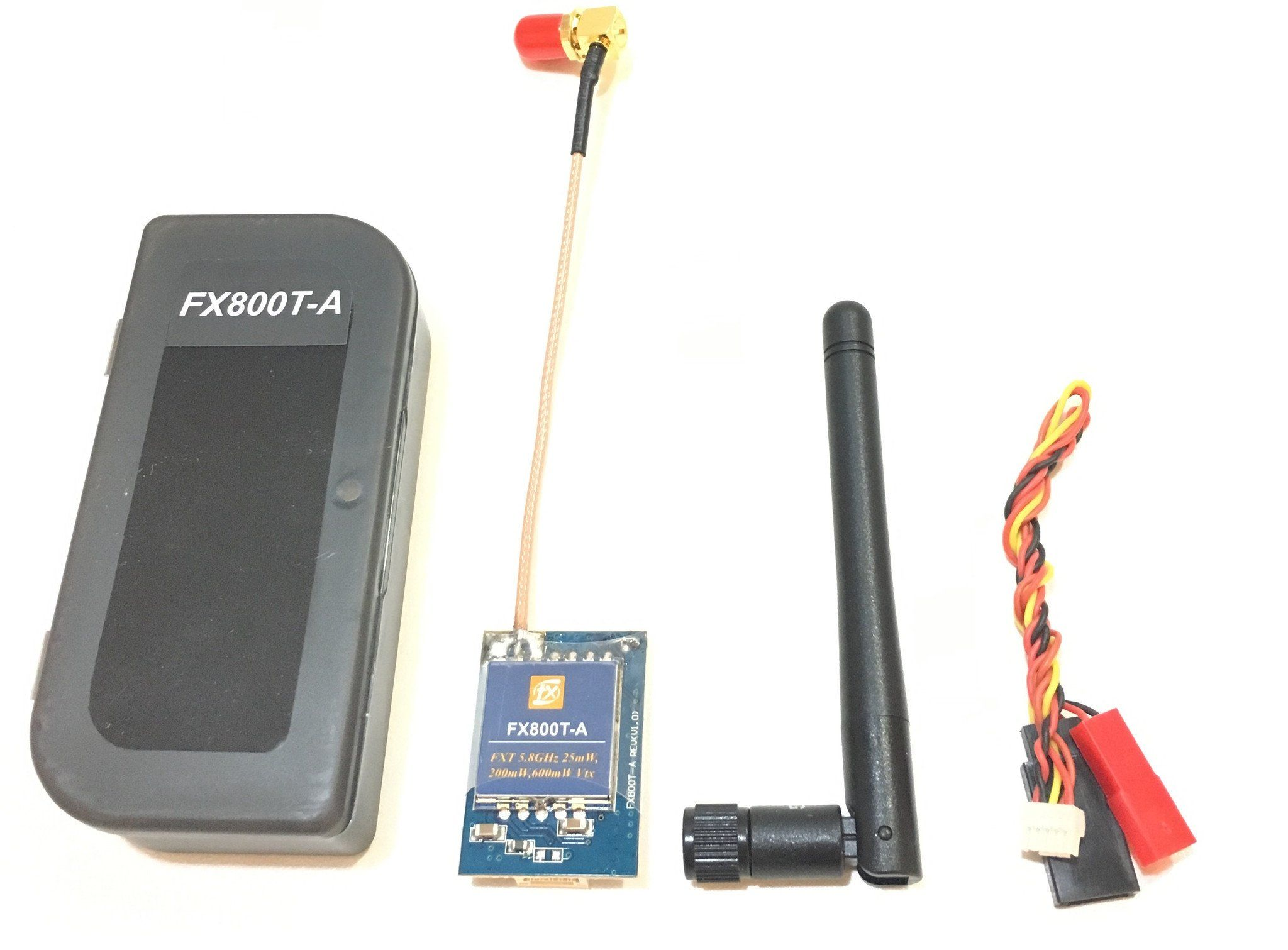 FXT FX800T 5.8Ghz Switchable Power 25/200/600mW Video Transmitter with right-angle SMA Pigtail FXT