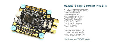 Matek Flight Controller F405-CTR with PDB, Current Sensor 184A, BEC 5V/2A Matek