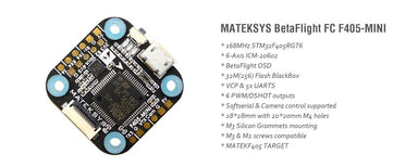 Matek Flight Controller F405-Mini 20x20 Matek