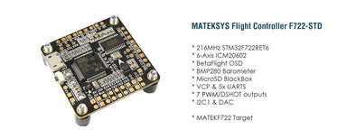 Matek Flight Controller F722-STD Matek