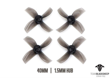 TBS Team BlackSheep Micro Brushless Props 4-Blade 40mm (Black) 1.5mm Hub Team Black Sheep