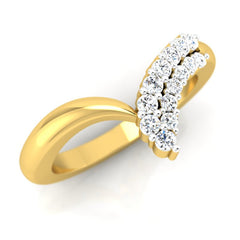 diamond studded gold jewellery - Stefanie Band Ring - Pristine Fire - 1