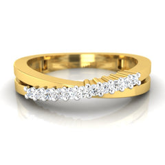 diamond studded gold jewellery - Keeley Band Ring - Pristine Fire - 2