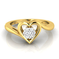 diamond studded gold jewellery - Mohana Cluster Ring - Pristine Fire - 2