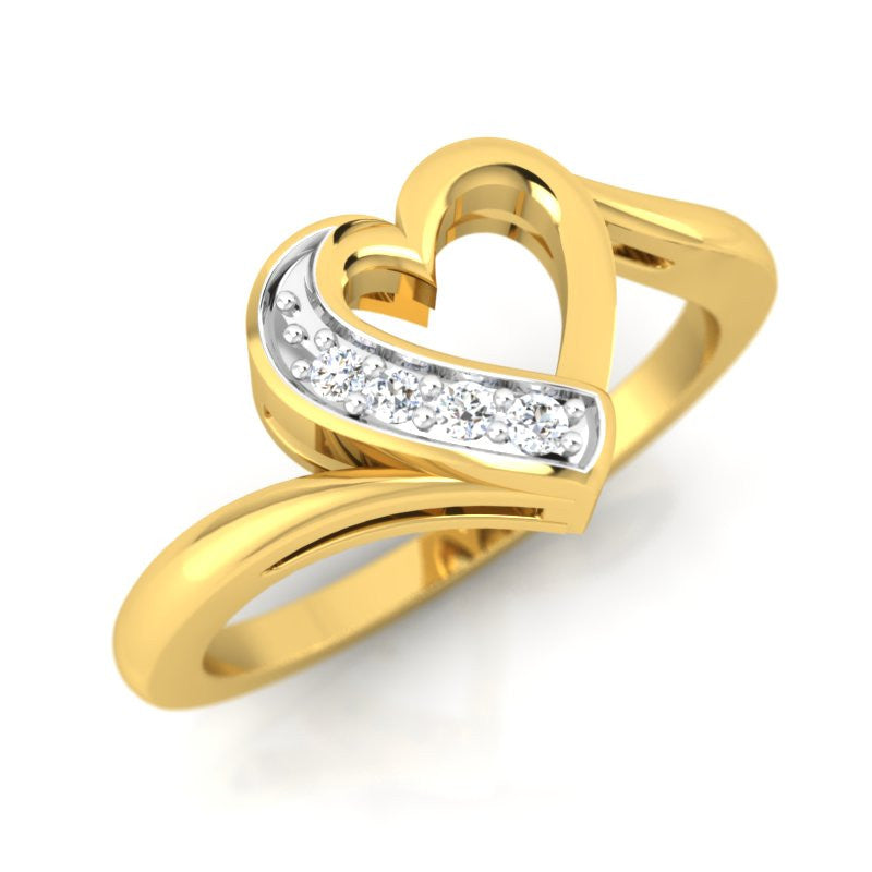 diamond studded gold jewellery - Valeska Casual Ring - Pristine Fire - 1
