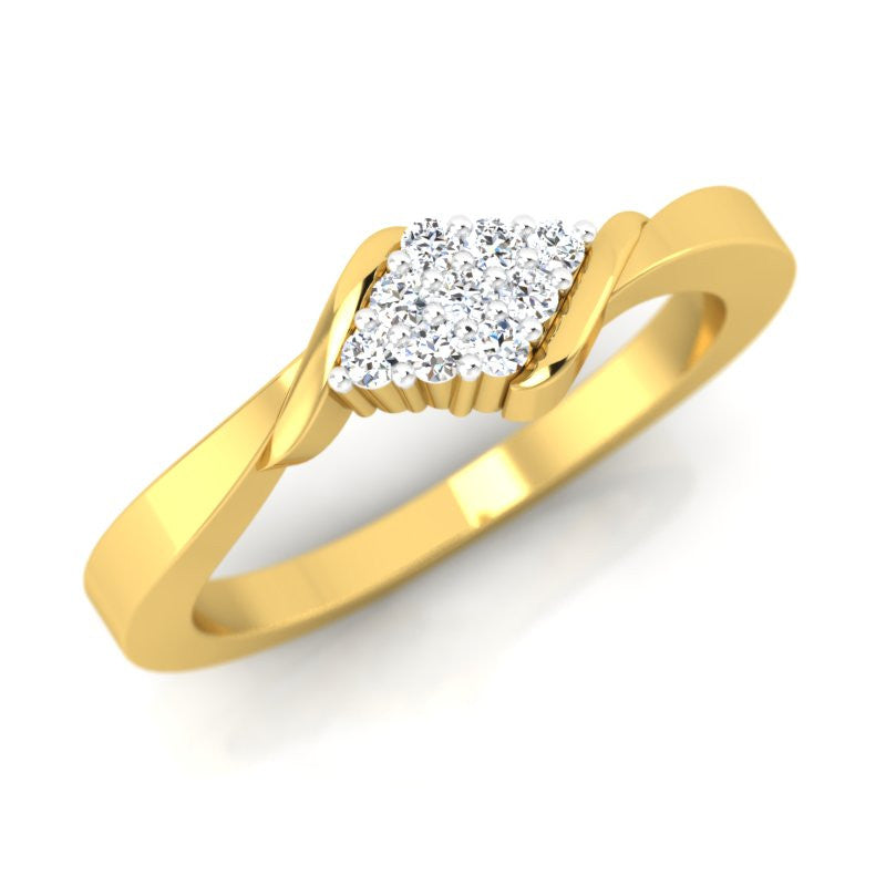 diamond studded gold jewellery - Cosette Promise Ring - Pristine Fire - 1