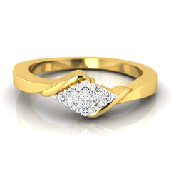 diamond studded gold jewellery - Cosette Promise Ring - Pristine Fire - 2