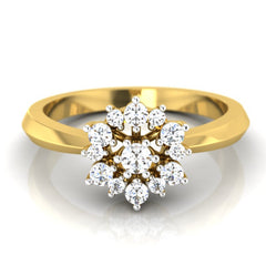 diamond studded gold jewellery - Fritzi Cluster Ring - Pristine Fire - 2