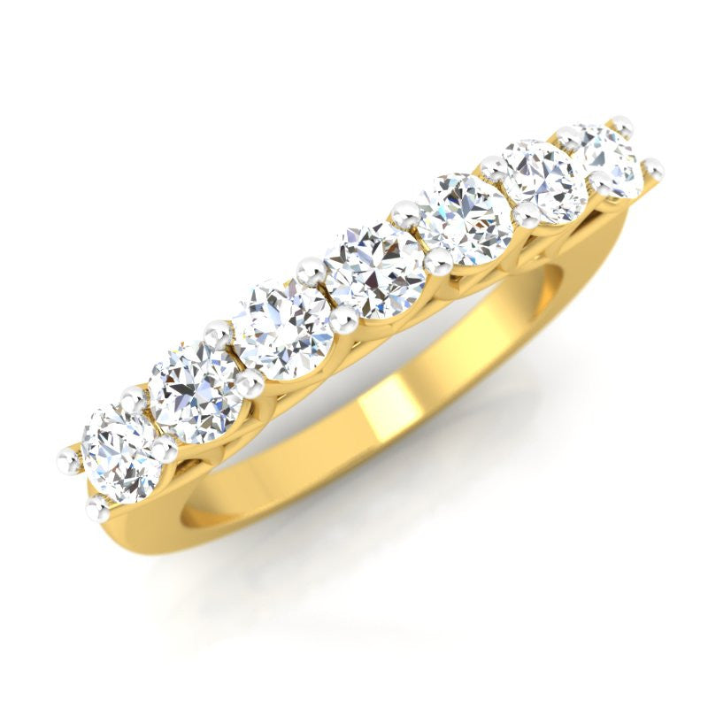 diamond studded gold jewellery - Zdravka Band Ring - Pristine Fire - 1