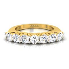 diamond studded gold jewellery - Zdravka Band Ring - Pristine Fire - 2