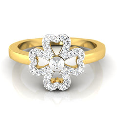 diamond studded gold jewellery - Iris Casual Ring - Pristine Fire - 2