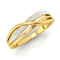 diamond studded gold jewellery - Carmen Band Ring - Pristine Fire - 1