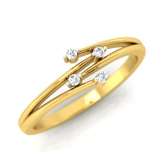 diamond studded gold jewellery - Irene Promise Ring - Pristine Fire - 1