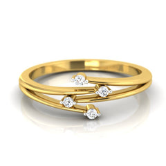 diamond studded gold jewellery - Irene Promise Ring - Pristine Fire - 2