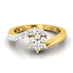 diamond studded gold jewellery - Katja Cluster Ring - Pristine Fire - 2