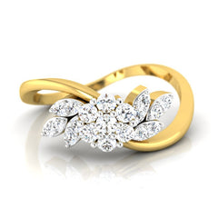 diamond studded gold jewellery - Agnese Casual Ring - Pristine Fire - 2