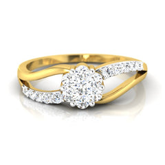 diamond studded gold jewellery - Heather Cluster Ring - Pristine Fire - 2