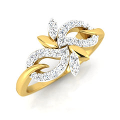 diamond studded gold jewellery - Adele Casual Ring - Pristine Fire - 1