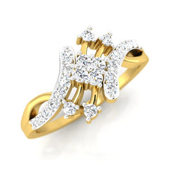 diamond studded gold jewellery - Marit Casual Ring - Pristine Fire - 1