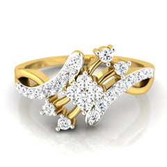 diamond studded gold jewellery - Marit Casual Ring - Pristine Fire - 2