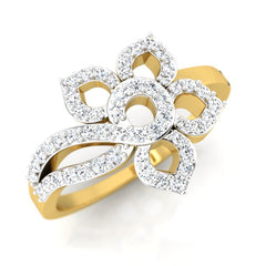 diamond studded gold jewellery - Matija Cocktail Ring - Pristine Fire - 1