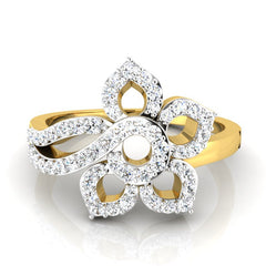 diamond studded gold jewellery - Matija Cocktail Ring - Pristine Fire - 2