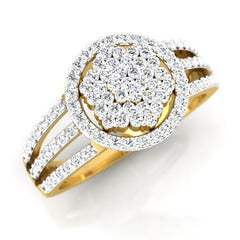 diamond studded gold jewellery - Vale Cocktail Ring - Pristine Fire - 1
