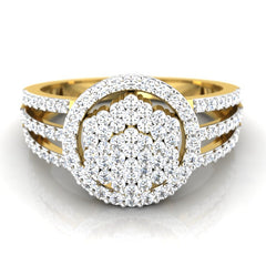 diamond studded gold jewellery - Vale Cocktail Ring - Pristine Fire - 2