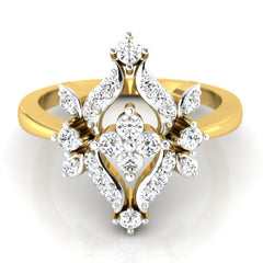 diamond studded gold jewellery - Cesarina Fashion Ring - Pristine Fire - 2