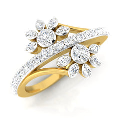 diamond studded gold jewellery - Suse Fashion Ring - Pristine Fire - 1