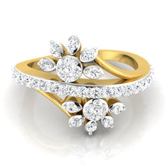 diamond studded gold jewellery - Suse Fashion Ring - Pristine Fire - 2
