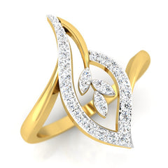diamond studded gold jewellery - Hilda Casual Ring - Pristine Fire - 1