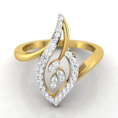 diamond studded gold jewellery - Hilda Casual Ring - Pristine Fire - 2