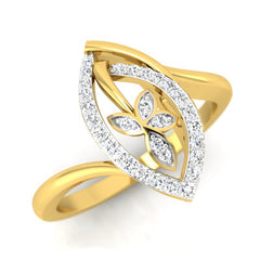 diamond studded gold jewellery - Anna Casual Ring - Pristine Fire - 1