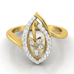 diamond studded gold jewellery - Anna Casual Ring - Pristine Fire - 2