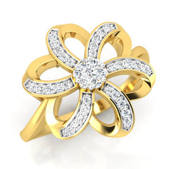 diamond studded gold jewellery - Agape Cocktail Ring - Pristine Fire - 1