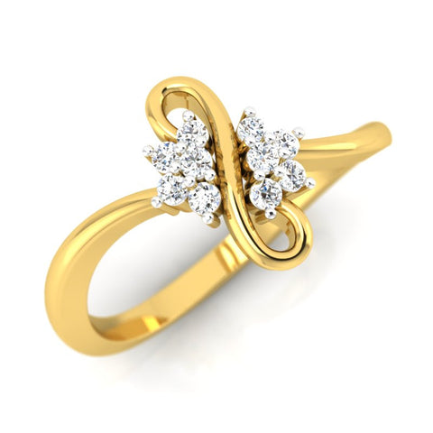diamond studded gold jewellery - Maureen Casual Ring - Pristine Fire - 1