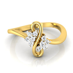 diamond studded gold jewellery - Maureen Casual Ring - Pristine Fire - 2