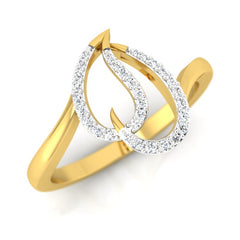 diamond studded gold jewellery - Abiodun Casual Ring - Pristine Fire - 1