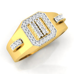 diamond studded gold jewellery - Brad Men's Ring - Pristine Fire - 1