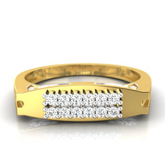 diamond studded gold jewellery - George Men's Ring - Pristine Fire - 2