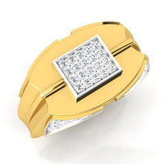 diamond studded gold jewellery - Edward Men's Ring - Pristine Fire - 1