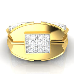 diamond studded gold jewellery - Edward Men's Ring - Pristine Fire - 2
