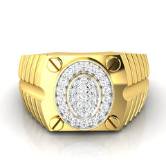 diamond studded gold jewellery - Ralf Men's Ring - Pristine Fire - 2